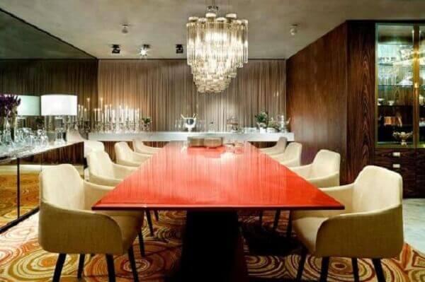 Tapetes para sala de jantar moderna