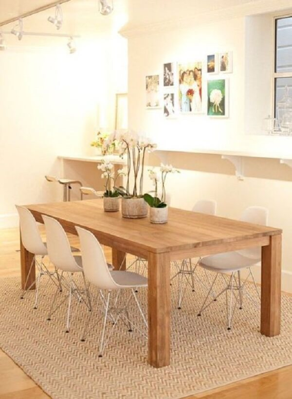 Tapetes para sala de jantar na cor bege