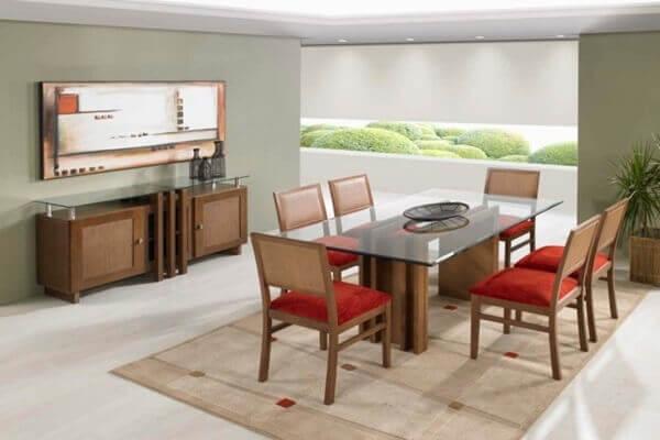 Tapetes para sala de jantar pequena