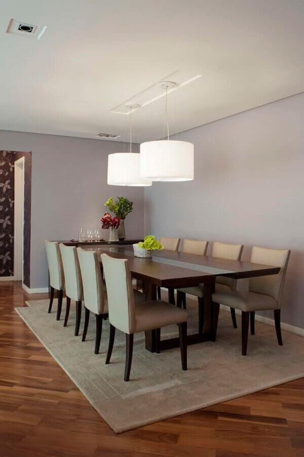 Tapetes para sala de jantar retangular