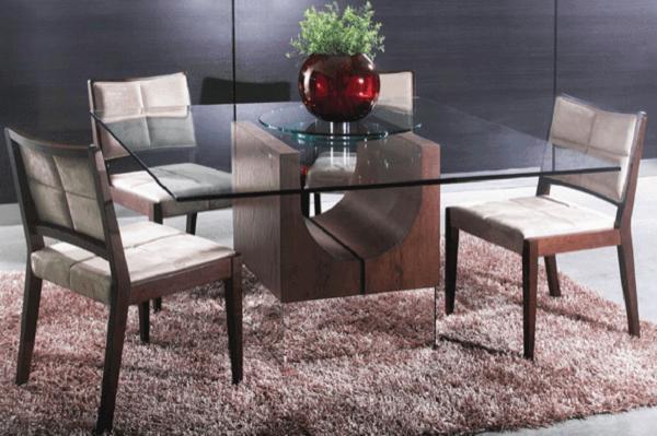 Tapetes para sala de jantar volumosos