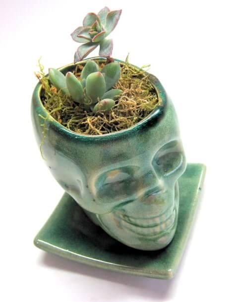 Vasos de cerâmica em formato de caveira Foto de Glassgift Design