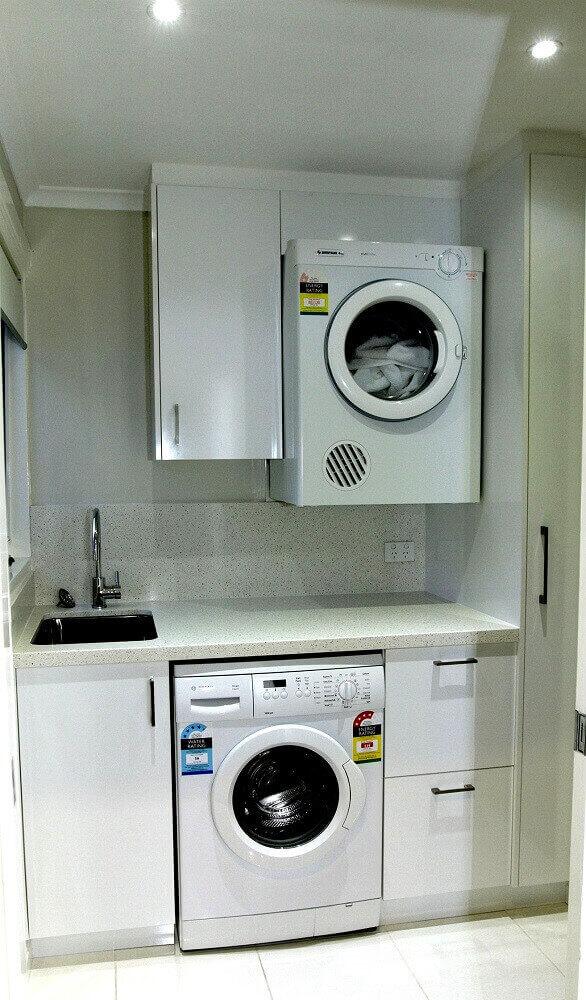 armário pequeno para lavanderia planejada toda branca Foto Home Design Gallery Ideas