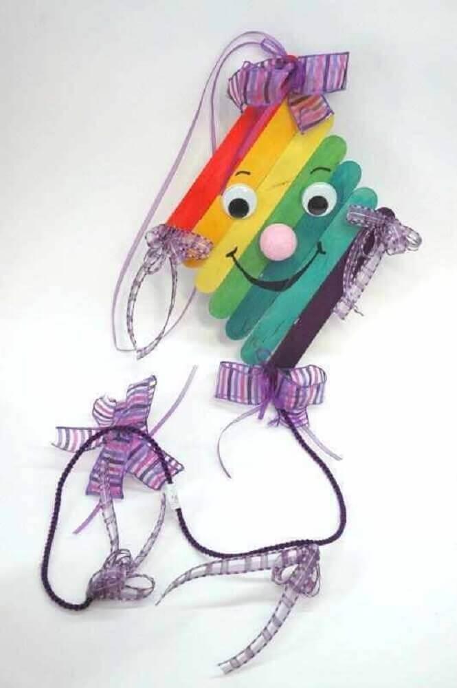 artesanato com palito de picolé para crianças Foto Bored Art