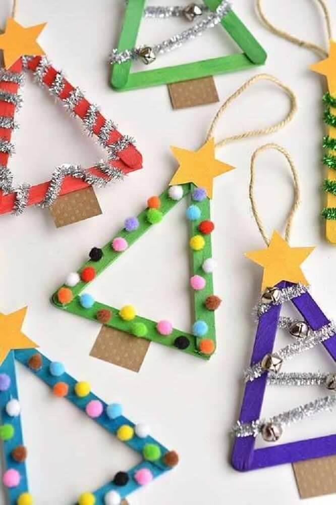 artesanato com palito de picolé para decoração natalina Foto Muva Knows Best