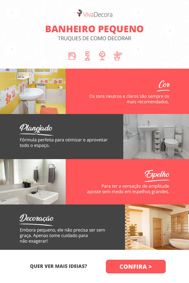 Infográfico - Banheiros pequenos
