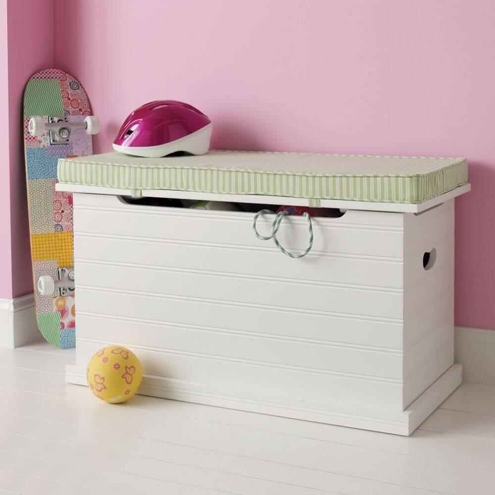 caixa organizadora bau com espaço para sentar Foto I Love Home Styling
