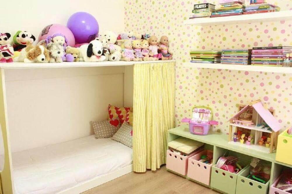 caixa organizadora infantil para decoração de quarto de criança Foto Mutabile Arquitetura