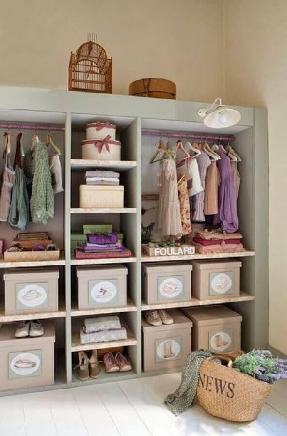 caixa organizadora para guarda roupa infantil Foto Pinterest