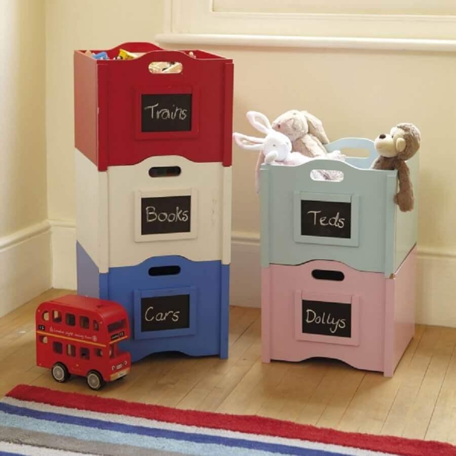 caixa organizadora plastico para brinquedos Foto Home Decoration
