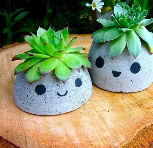 como fazer vaso de cimento divertido