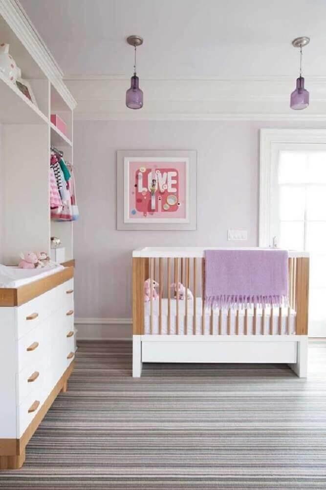 cores para quarto de bebê feminino neutro Foto Amy Hirsch