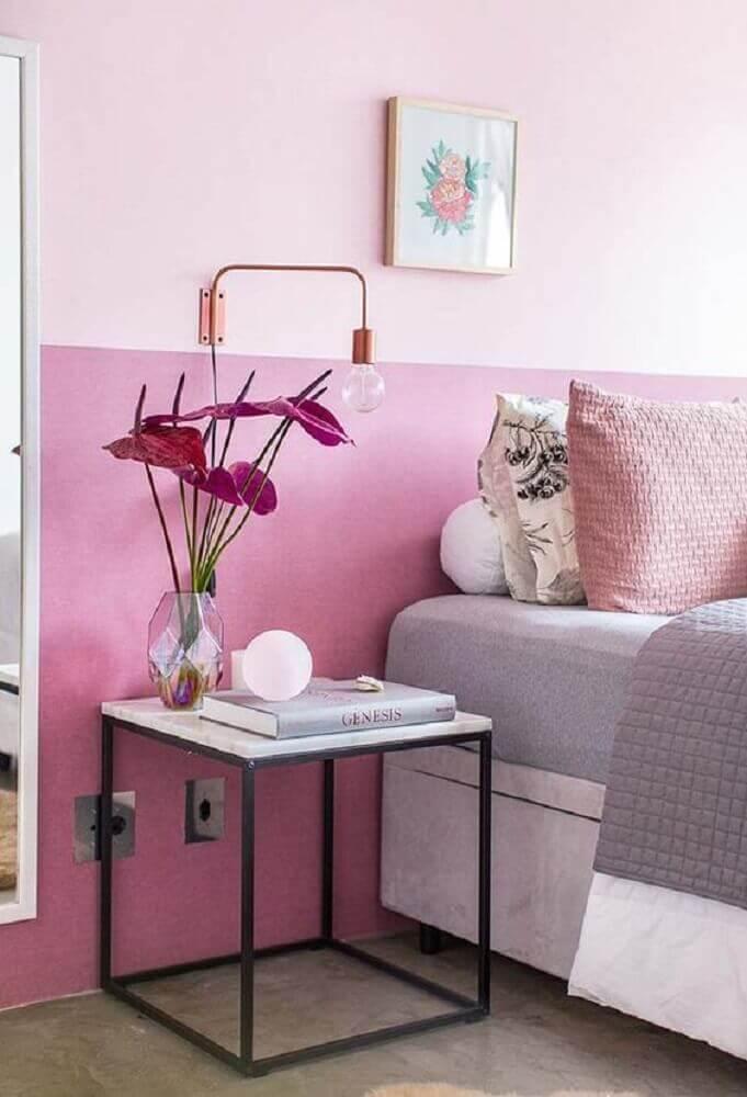 cores para quarto feminino - decoração toda em tons de rosa para quarto feminino Foto Pinterest