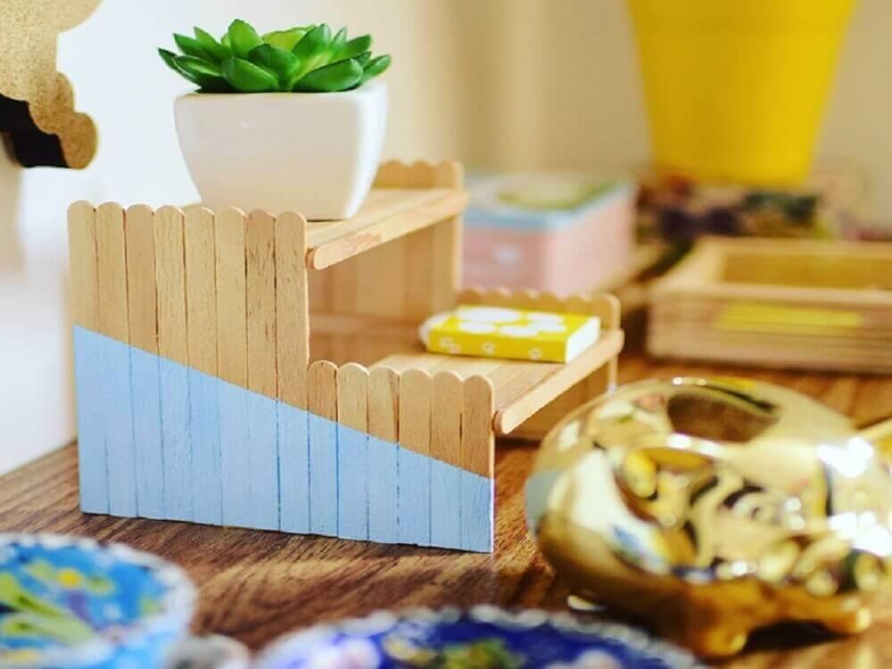 decoração com artesanato com palito de picolé Foto SimpliChique