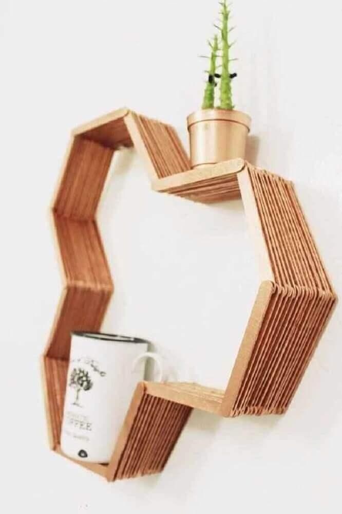 decoração com artesanato com palito de picolé Foto Webcomunica