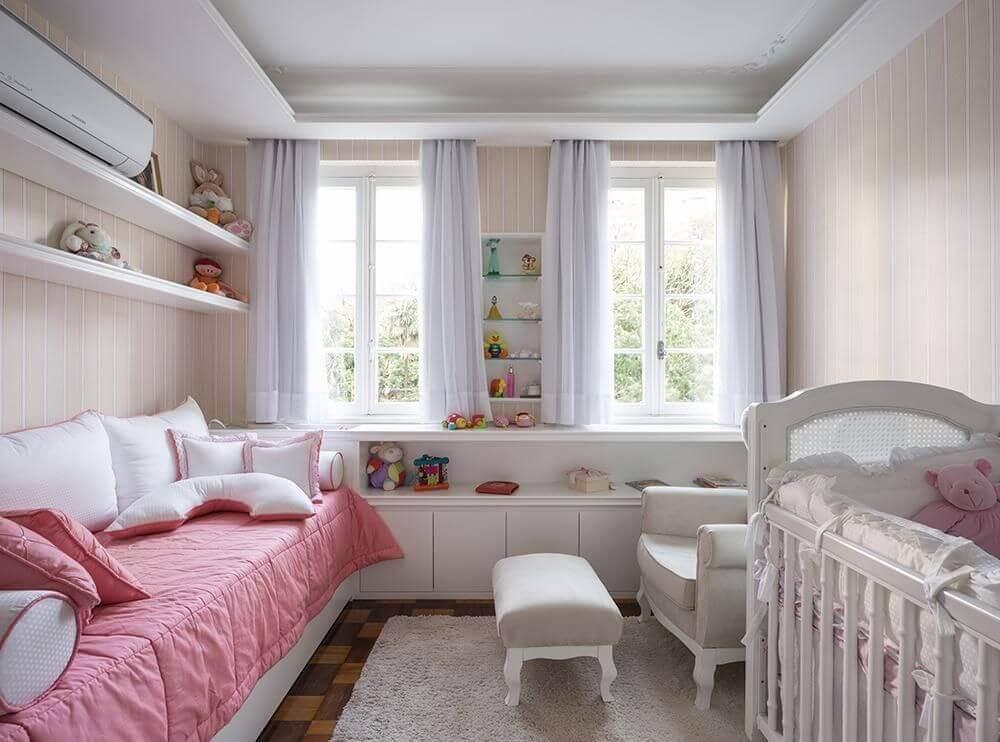 decoração com cores neutras para quarto de bebê feminino Foto Kali Arquitetura