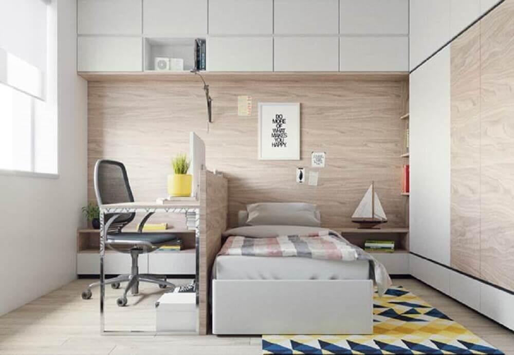 decoração com móveis planejados para quarto moderno de solteiro Foto Neu dekoration stile