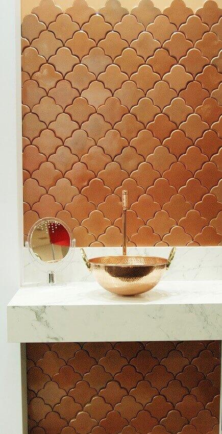 decoração de banheiro com revestimento 3D