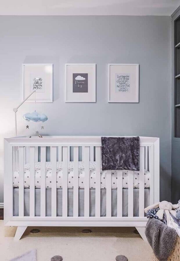 decoração minimalista com quadros para quarto de bebê Foto Pinterest