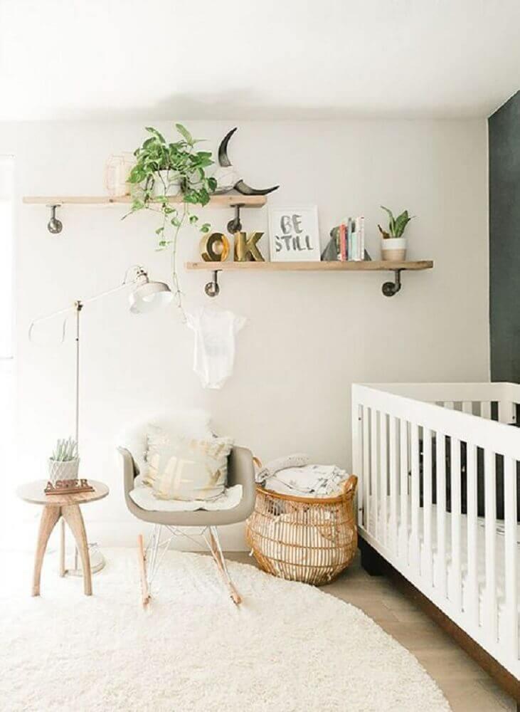 decoração minimalista para quarto de bebê moderno Foto Wondere woonwereld