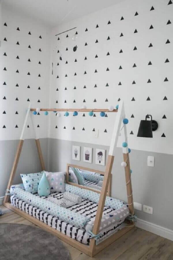 decoração montessoriana para quarto de bebê moderno Foto Pinterest