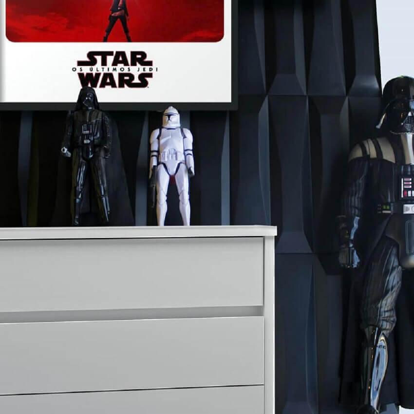 decoração nerd com revestimento 3d - coleção admirato
