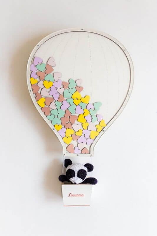 decoração neutra com enfeites para porta de quarto de bebê Foto Lolo Bunny
