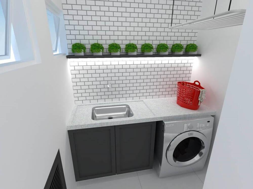 decoração para lavanderia pequena planejada Foto Studio Brasil Arquitetura