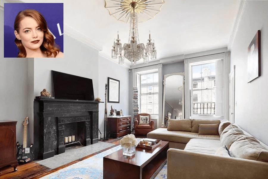 decoração sala Emma Stone com estilo clássico