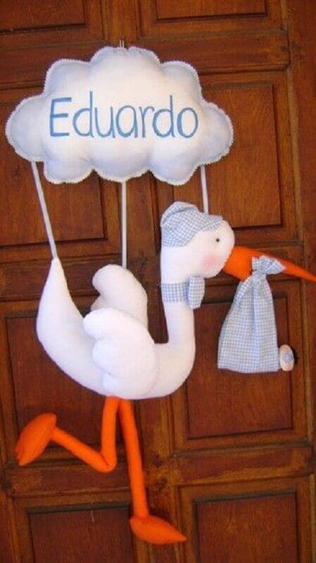 enfeites para porta de quarto de bebê feito em eva Foto Pinterest