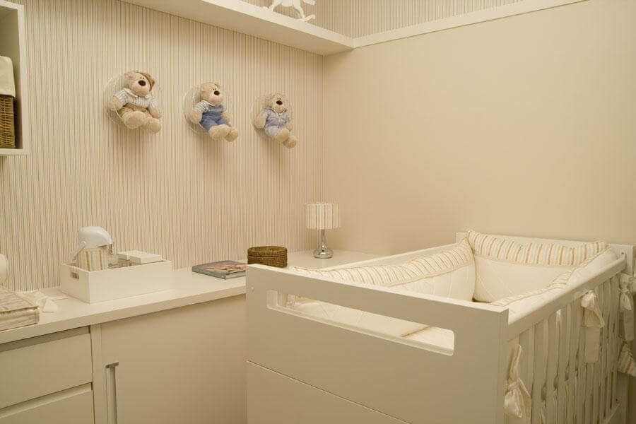 enfeites para quarto de bebê decorado em tons neutros Foto lilian barbieri