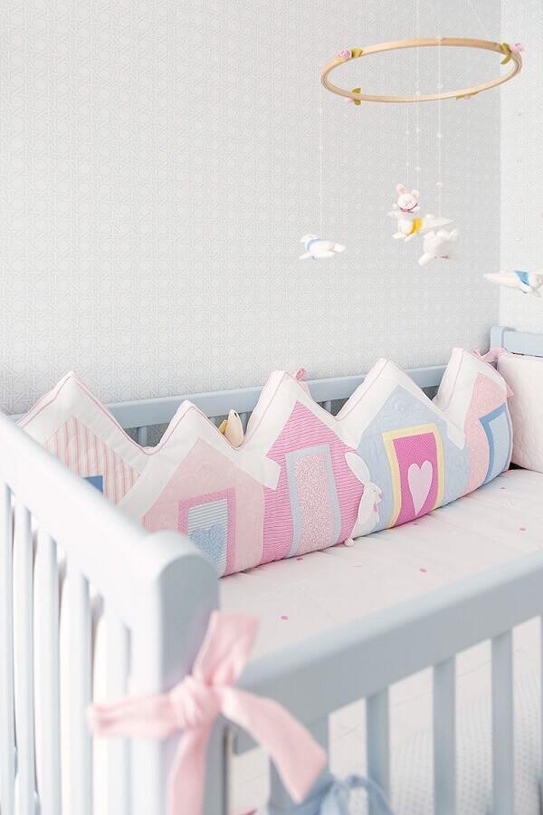 enfeites para quarto de bebê decorado em tons pastéis Foto Minimalist Ev Dekorasyonu