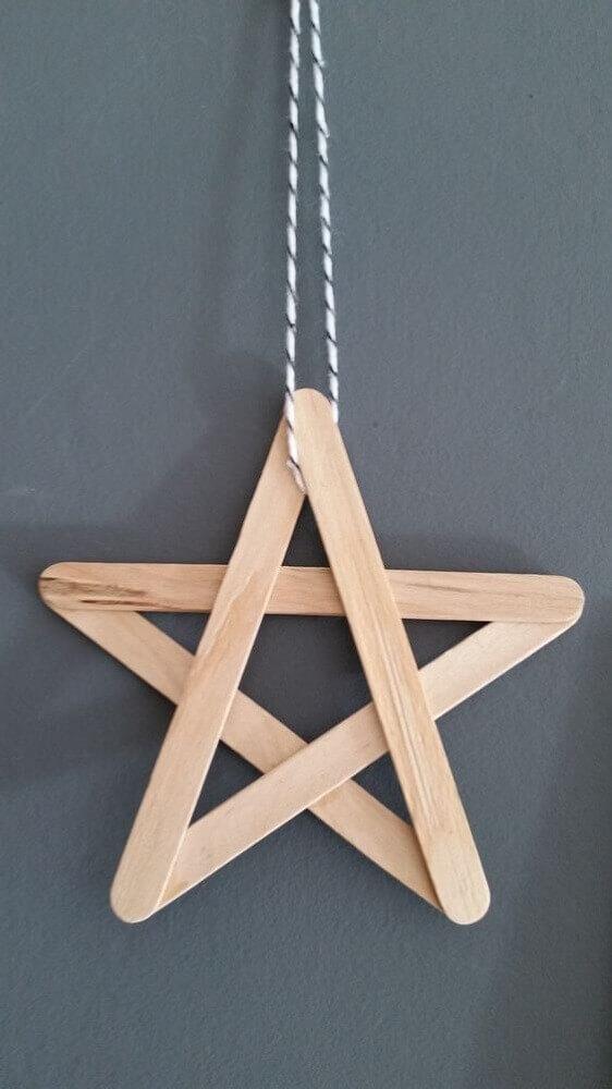 estrela de artesanato com palito de picolé Foto Design Mag