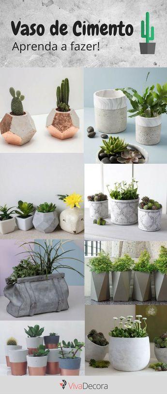 Infográfico - Como fazer vaso de cimento