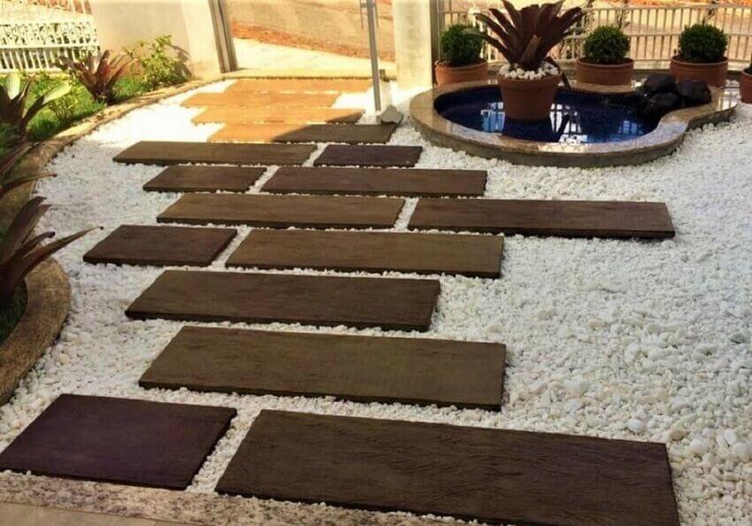 jardim com revestimento 3d para o chã - coleçãomadeira