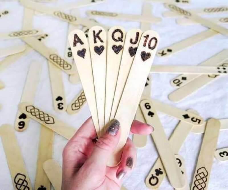 jogo feito de artesanato com palito de picolé Foto Pinterest