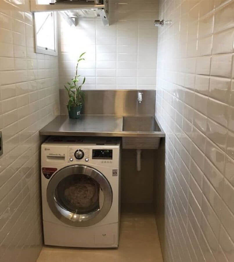 lavanderia pequena e simples Foto Pinterest