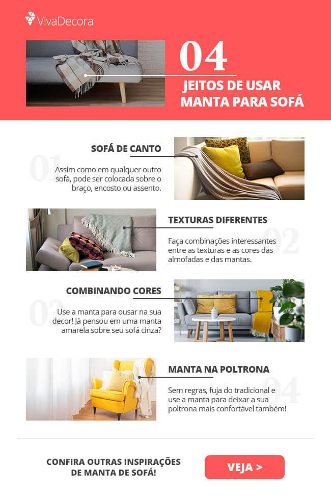 Infográfico - Manta para sofá