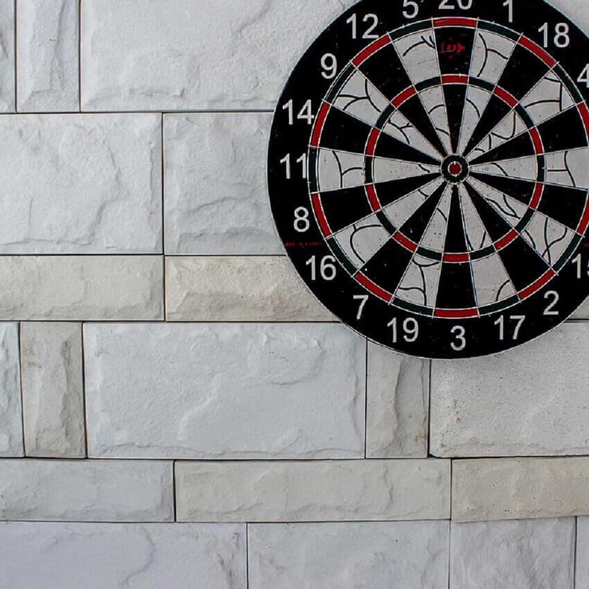 parede com revestimento 3D branco -coleção admirato