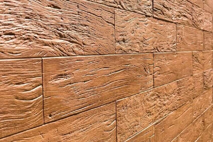 parede com revestimento 3d que imita madeira - coleção madeira