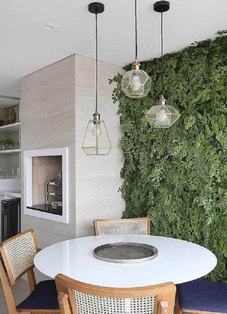pendente moderno para sala de jantar com jardim vertical Foto Pinterest
