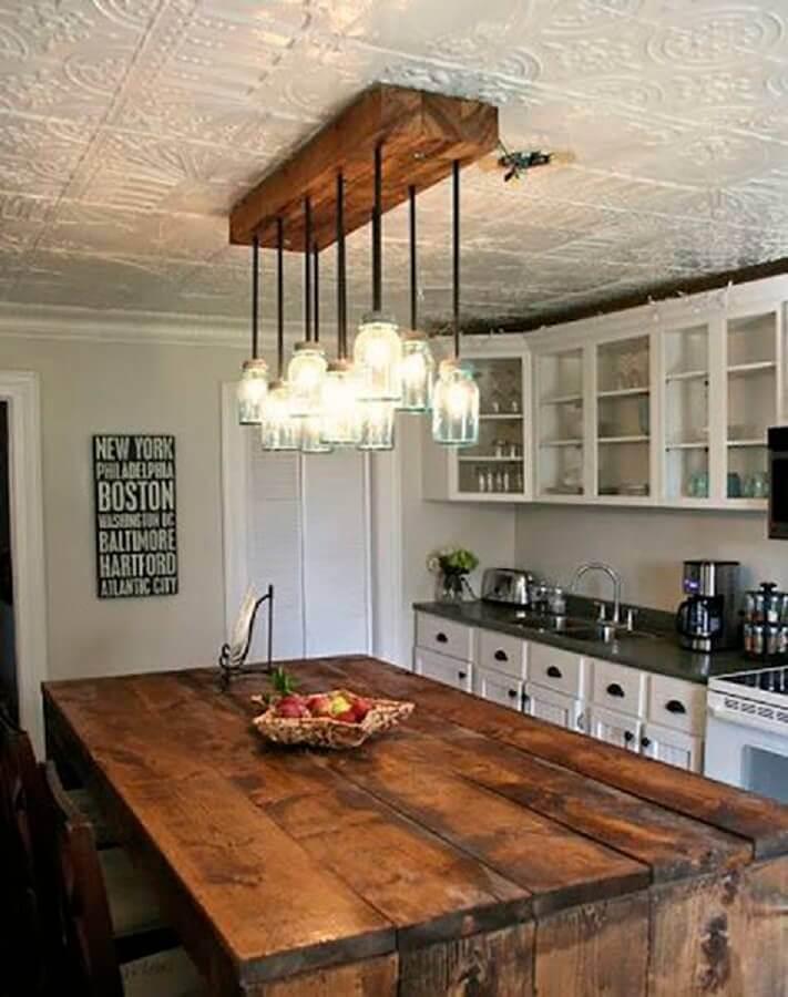 pendente rustico para sala de jantar rústica Foto Siempre Mujer