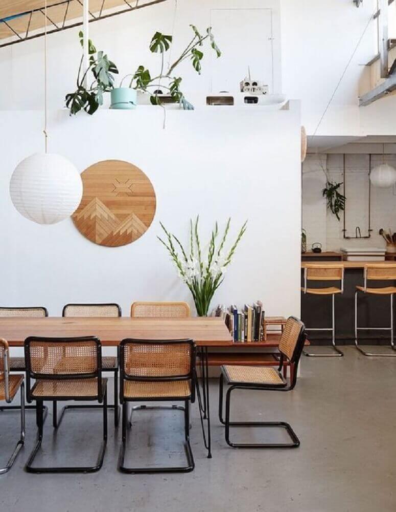 pendentes para sala de jantar com decoração oriental Foto Pinterest