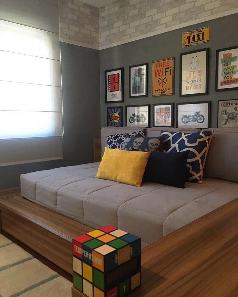 quadrinhos decorativos para quartos modernos Foto Pinterest