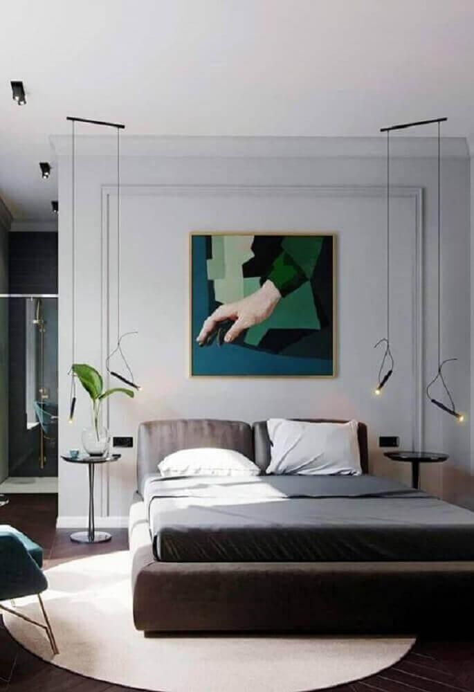 quartos de casal modernos decorados com pendentes minimalistas Foto Pinterest