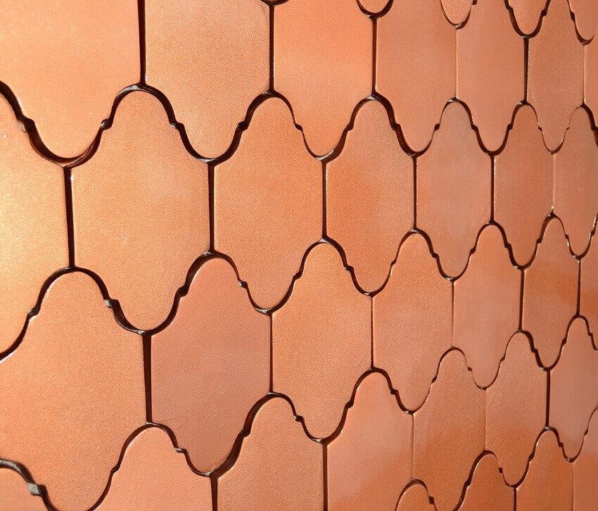 revestimento 3d com acabamento rose gold - coleção zellige - foto admirato