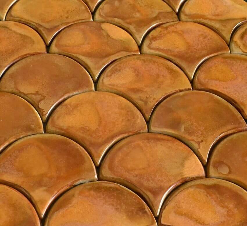 revestimento 3d cor de cobre - coleção ZELLIGE - foto admirato
