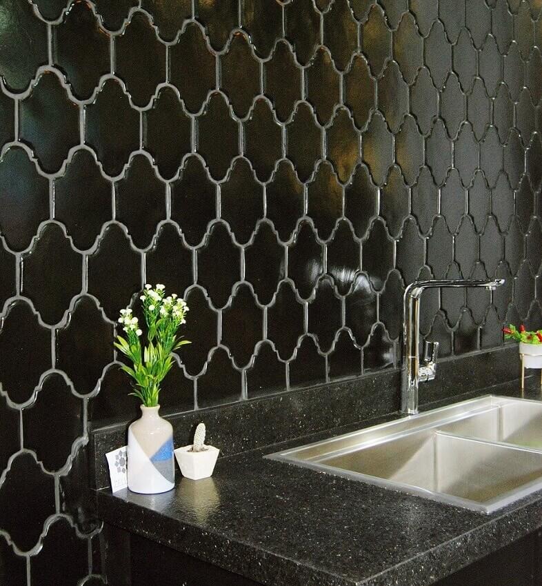 revestimento 3d para cozinha preta coleção-zellige-foto-admirato