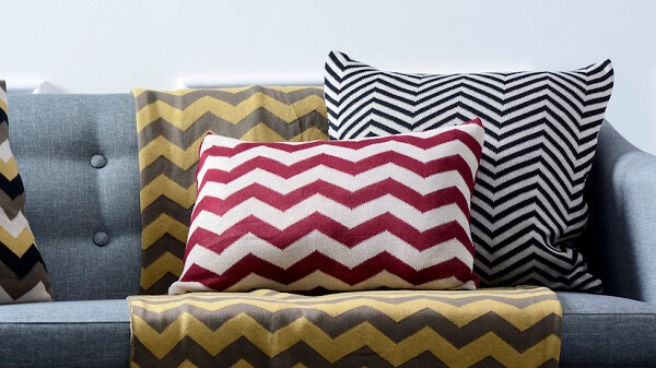 Almofadas decorativas chevron
