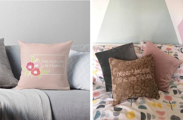 Almofadas decorativas com frases